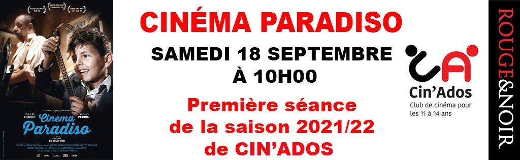actualité Cin'Ados - CINEMA PARADISO